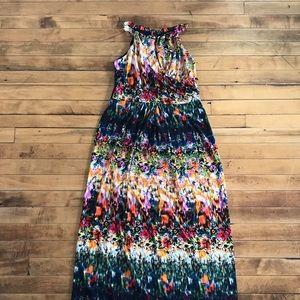 Cynthia Rowley Fire Floral Maxi Dress